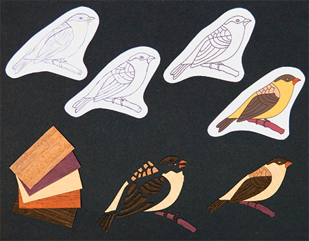 Storyboard of technique making wood inlay marquetry. Copyright 2007 Grant Chai.